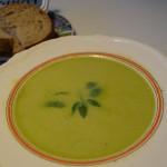 Aspargessuppe af friske grønne asparges