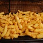 Færdiglavede pommes frites på Rotisseri