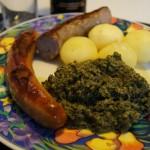 Medisterpølse med grønlangkål