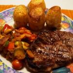 Ribeye Steak med ratatouille og kartoffelfondant