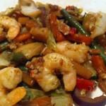 Spicy rejer med grøntsager