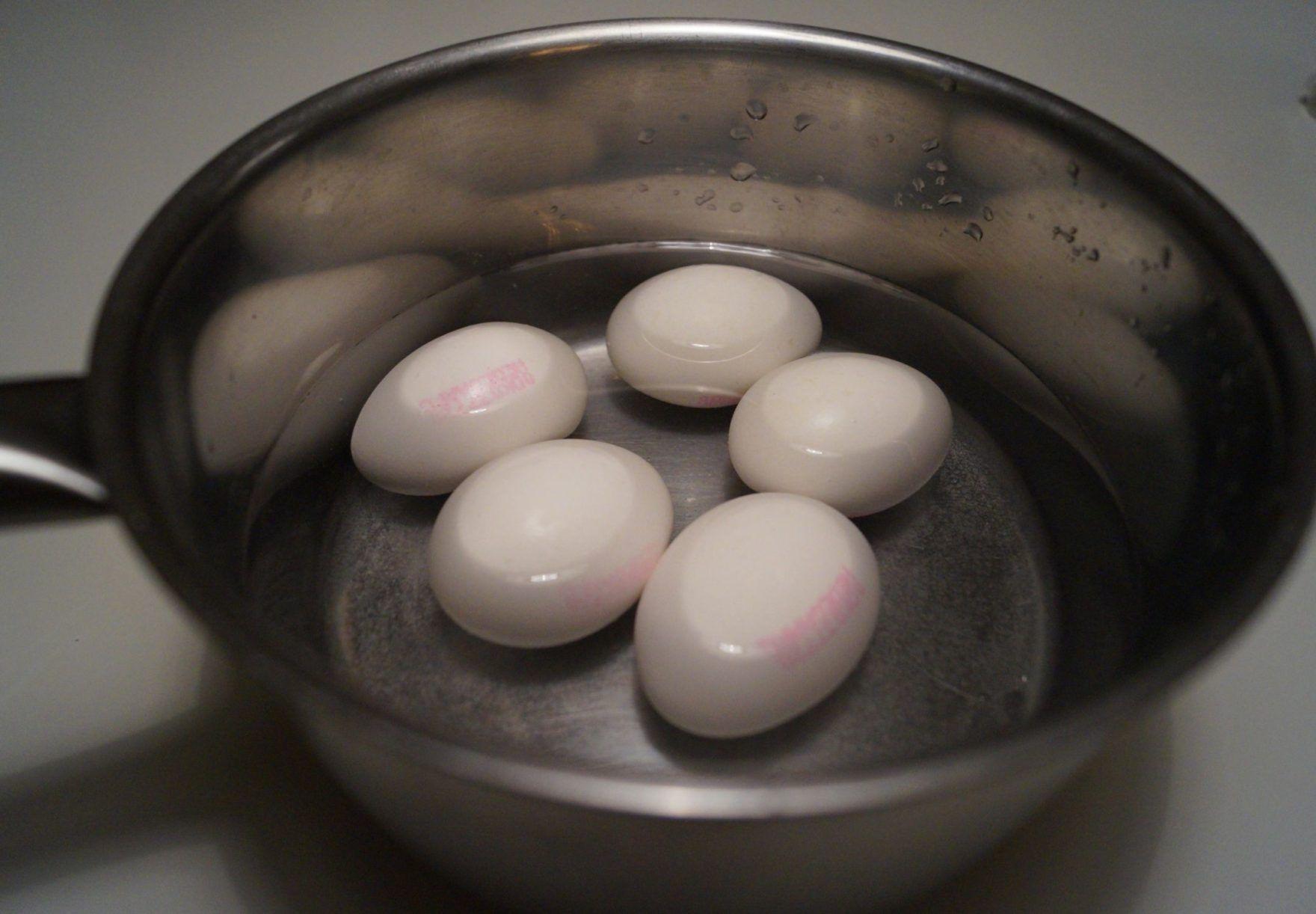 Æg til blødkogte æg i gryde