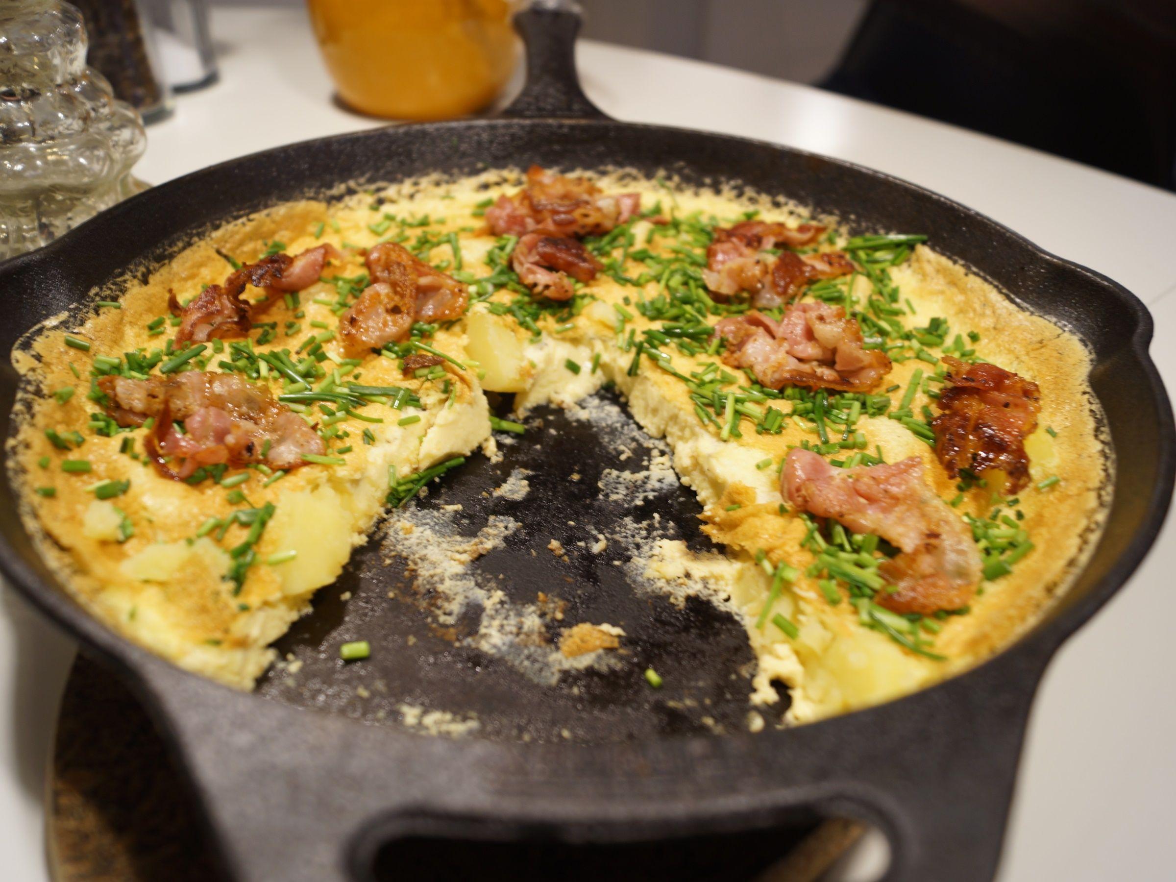 Æggekage på pande