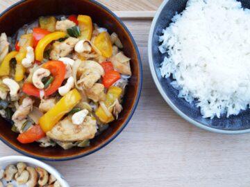 Asiatisk wok med kylling i hoisin sauce