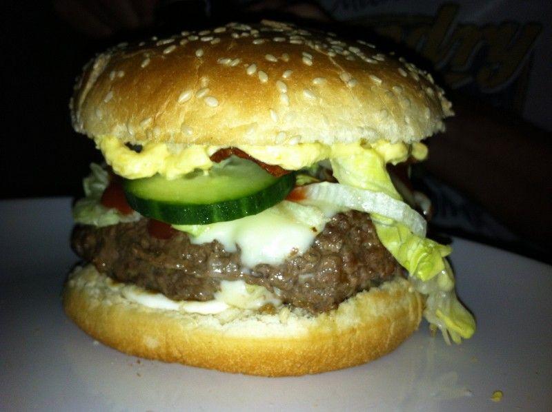 Bacon Cheese burger - Tømmermands burger