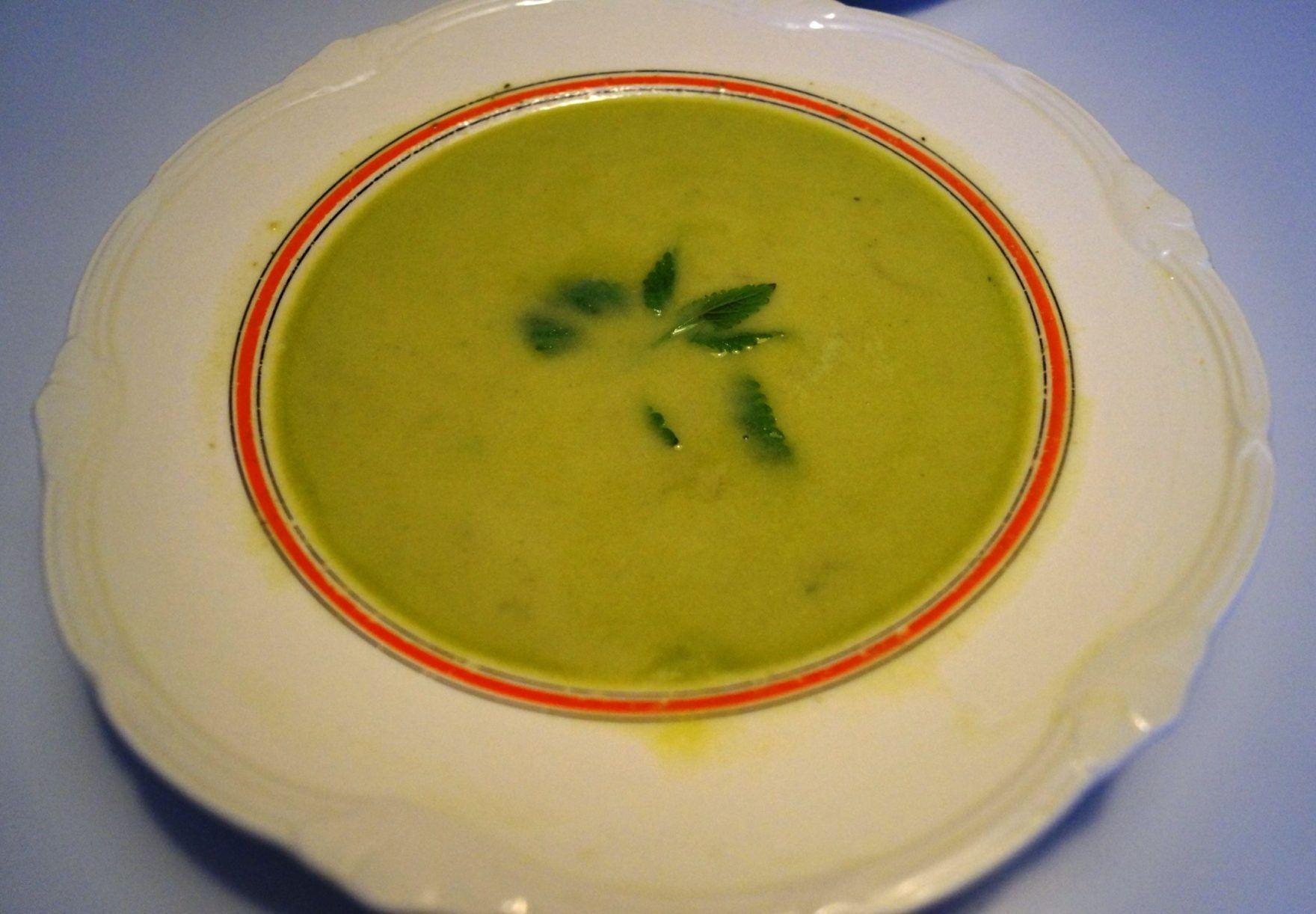 Blendet-grøntsagssuppe