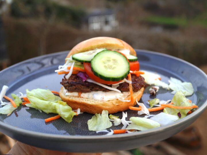 Burger med bearnaisemayo
