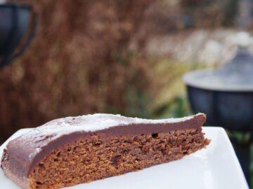 Chokoladekage hvor mel er erstattet af hasselnødder