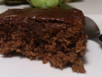 Chokoladekage med kokosglasur