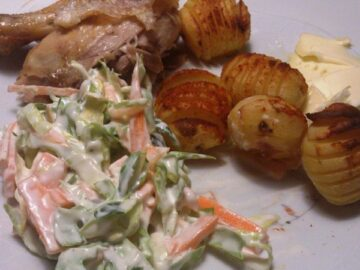 Coleslaw og kylling