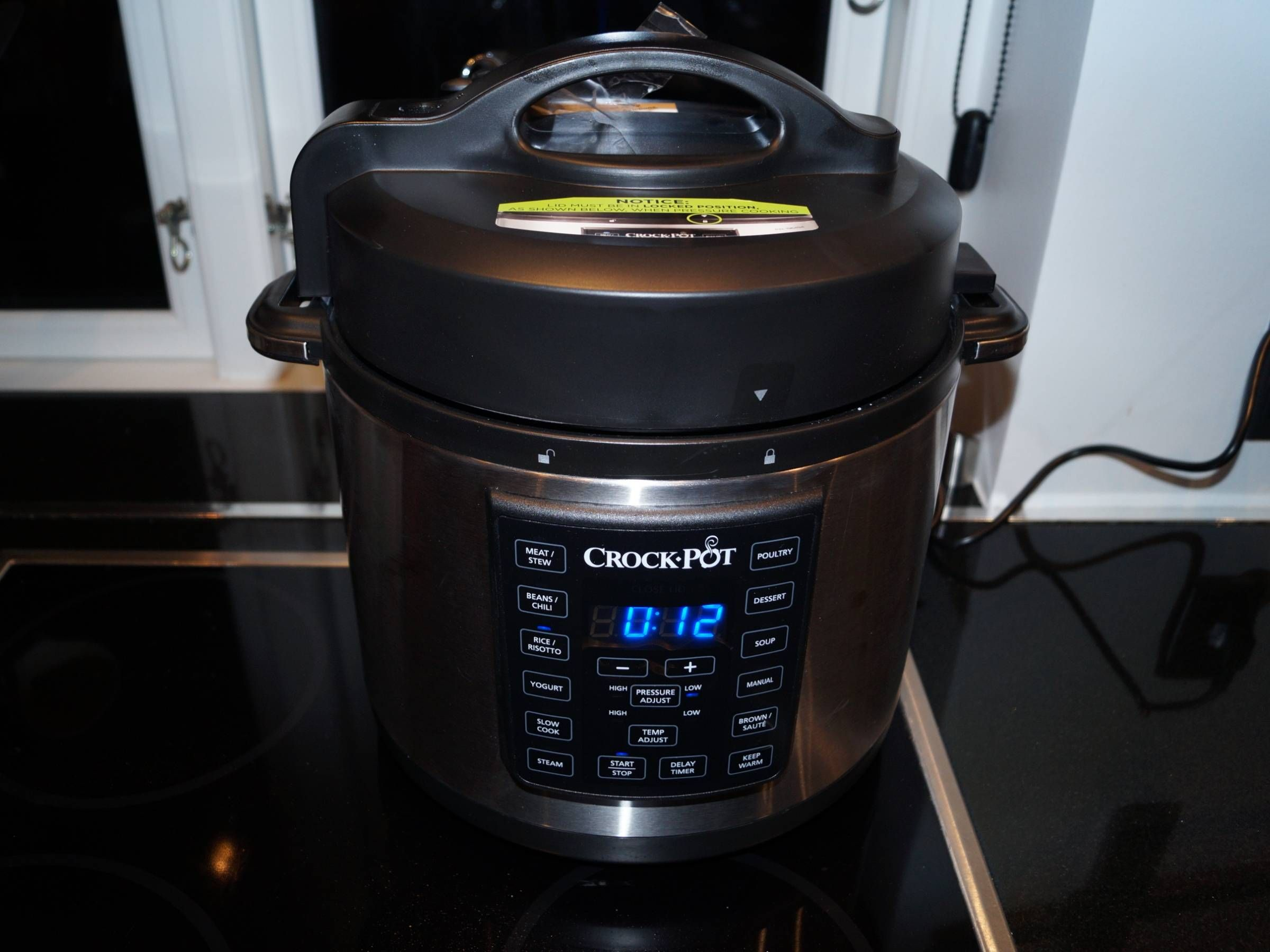 Crock-pot med damp og pres funktion