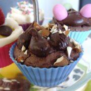 Cupcake med chokoladestykker