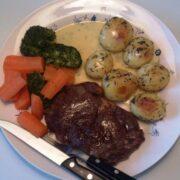 Entrecote steak I ovn