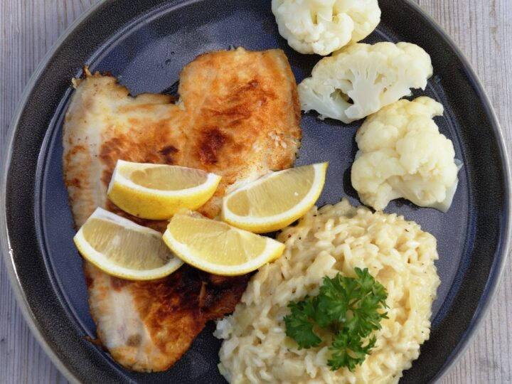 Fisk med risotto