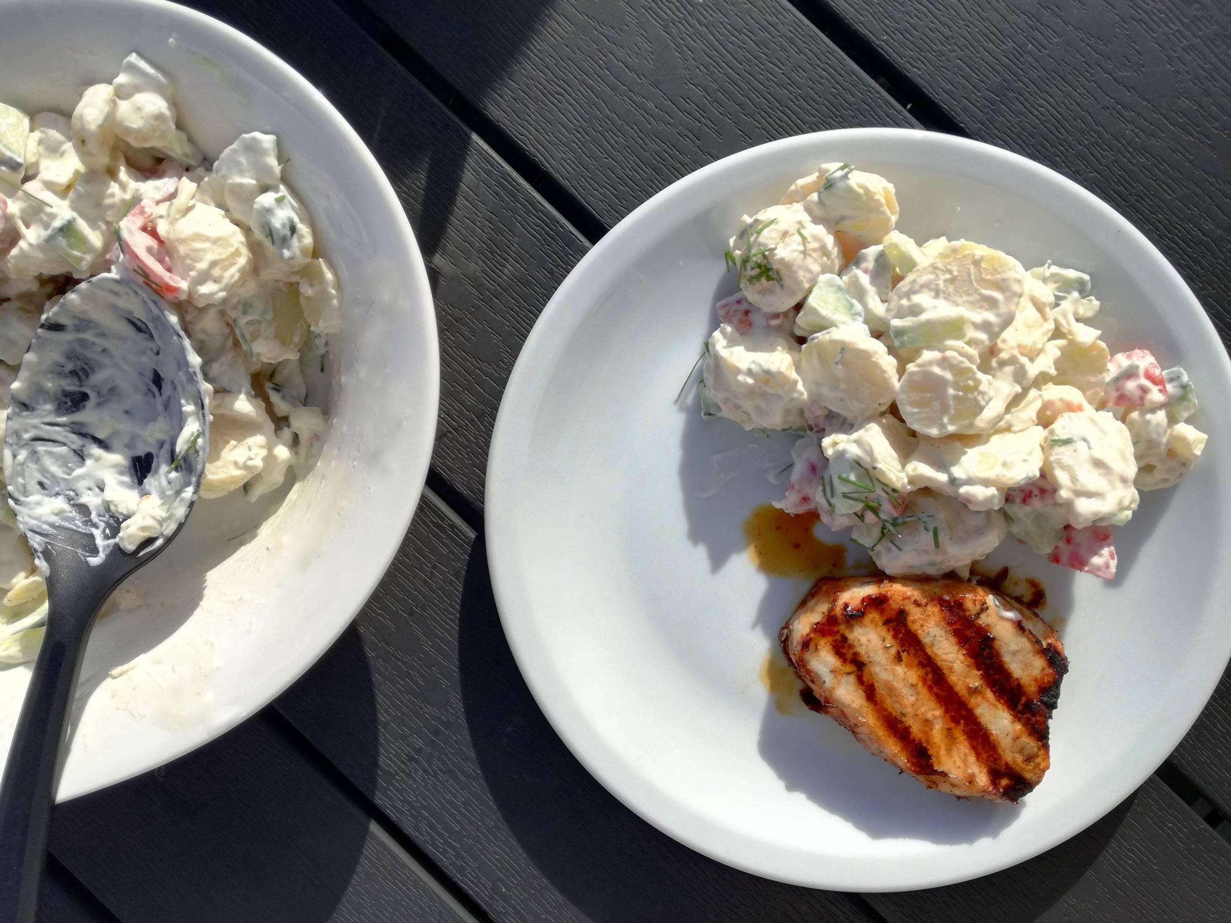 Grillmad med kartoffelsalat