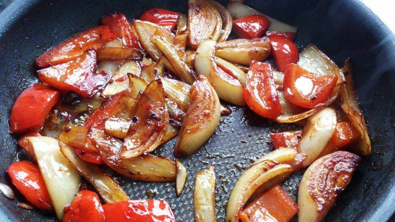 Grøntsager stegte