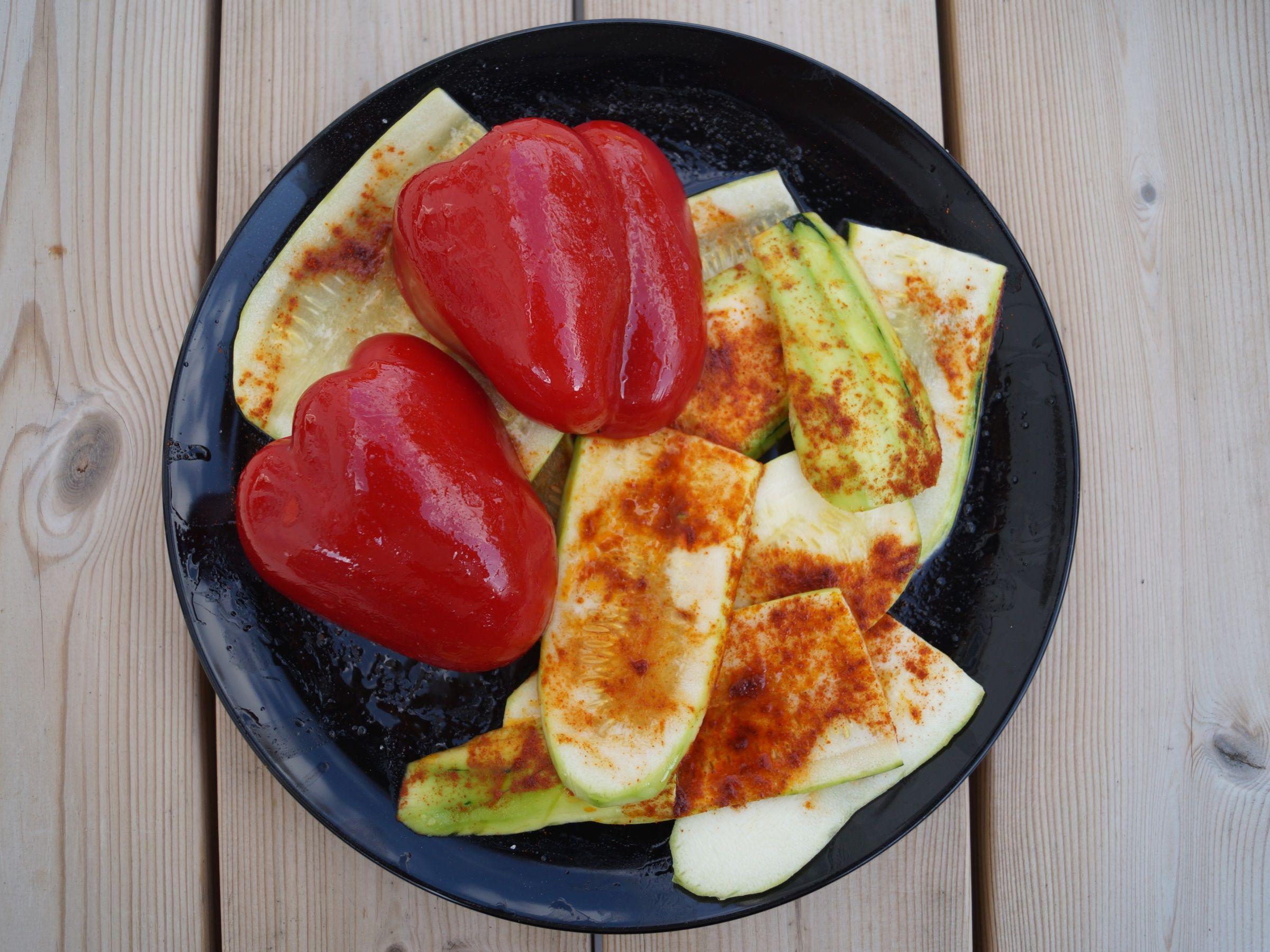 Grøntsager til grill marineret