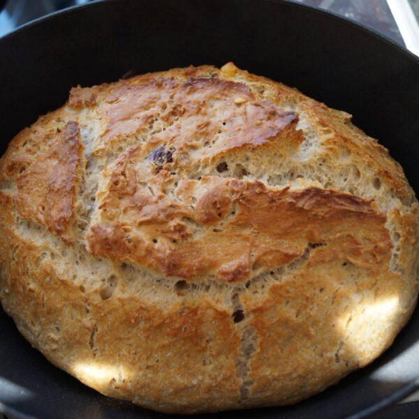 Maltbrød gyldent efter 45 minutter i ovn