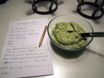 Guacamole – avocadocreme med hvidløg