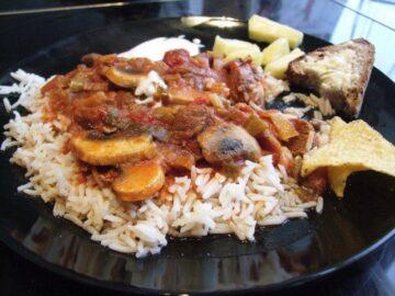 Gullasch med ris