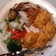 Hel kylling med kartoffelmos toppe