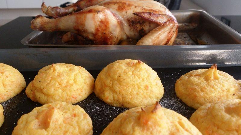 Hel kylling og kartoffelmos toppe