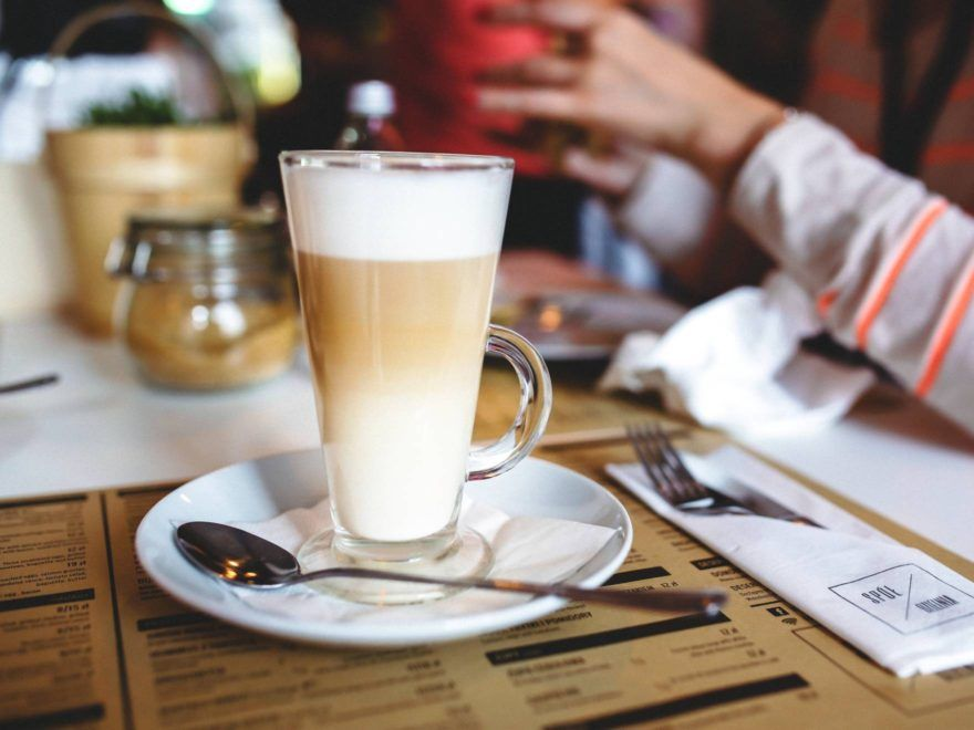 Iskaffe med vaniljeis