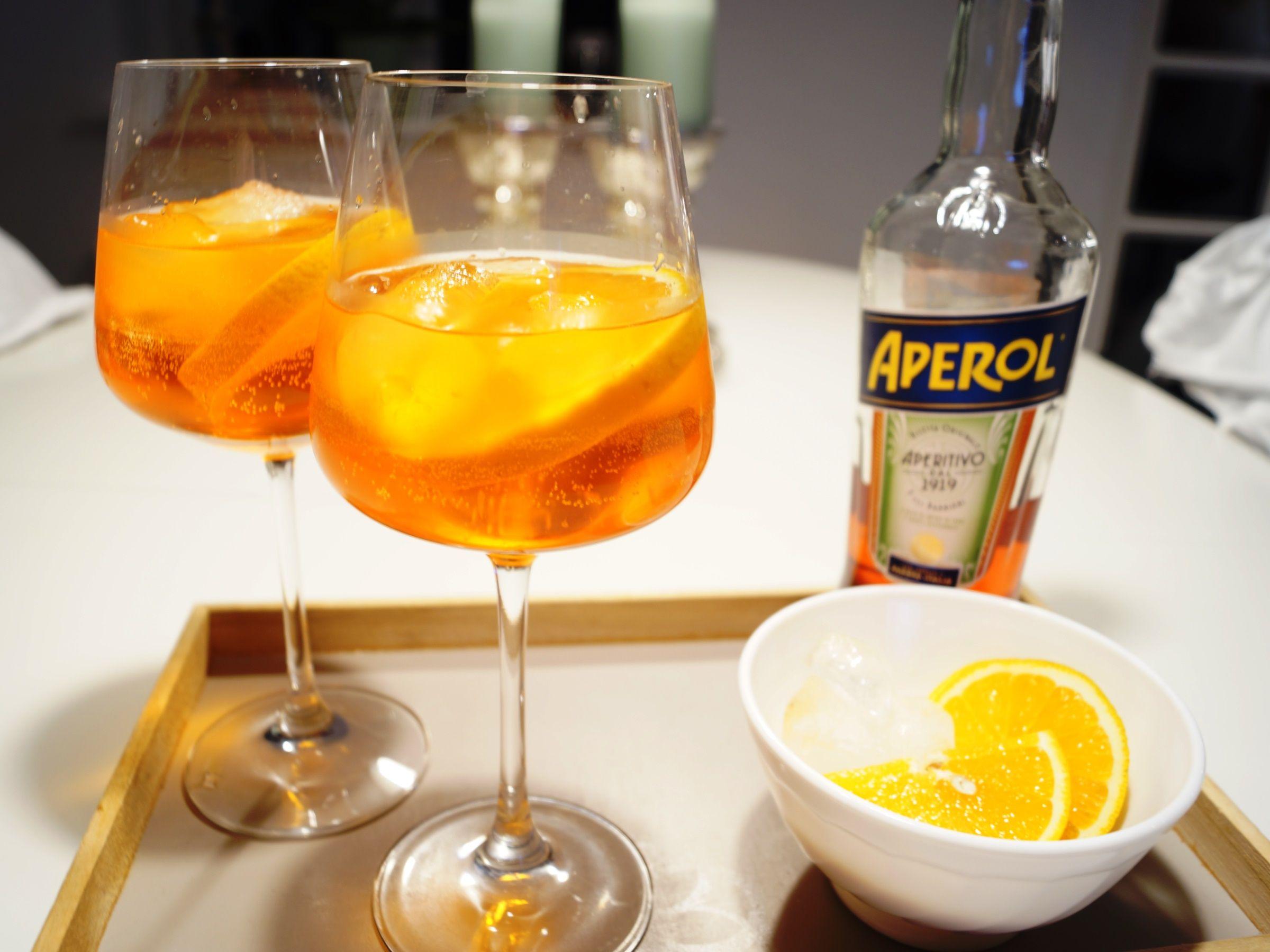 Italiensk Aperol spritz