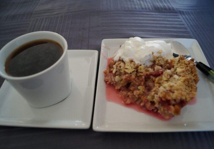 Kaffe og Rabarbercrumble