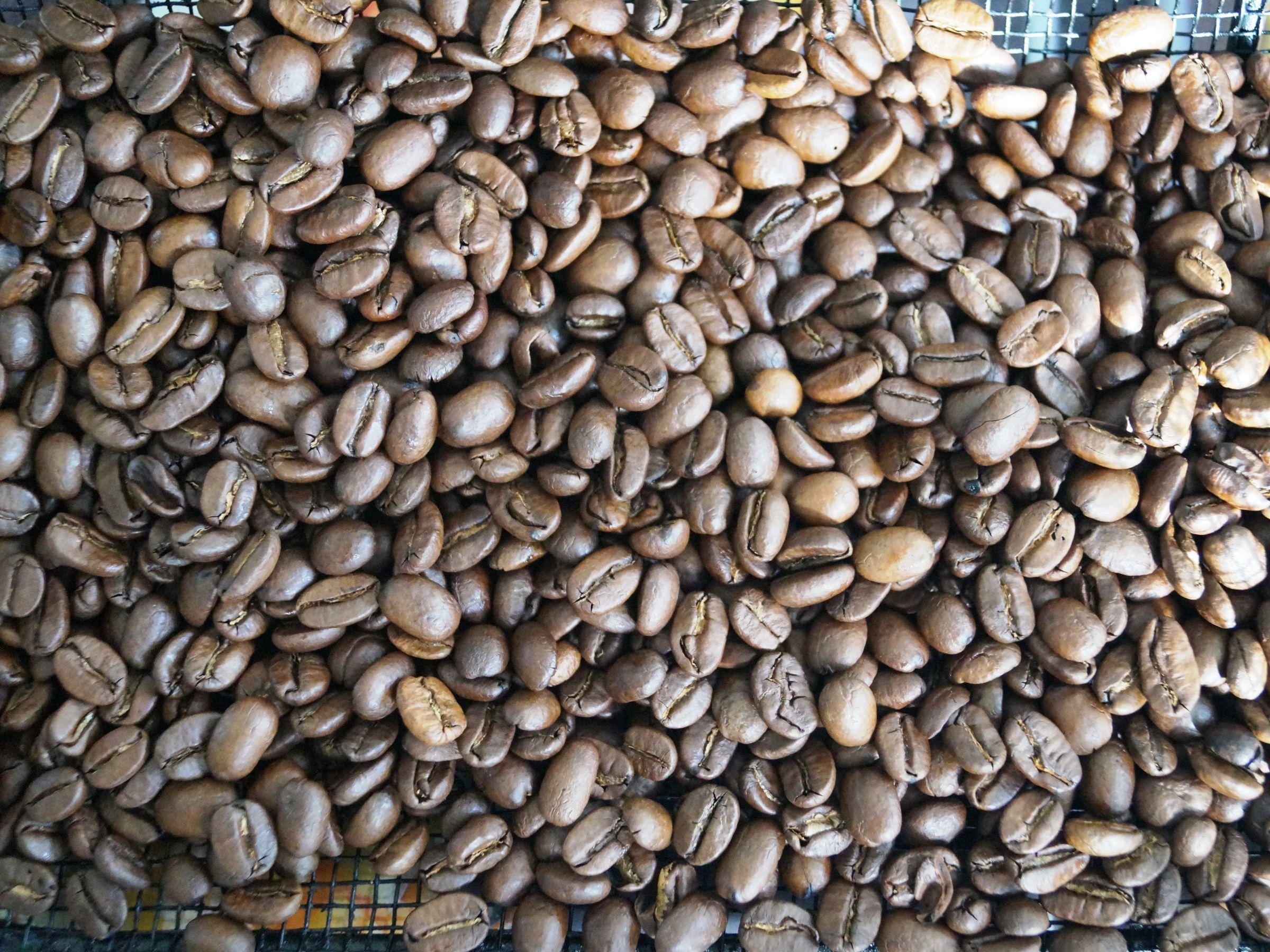 Kaffebønner mellemristet