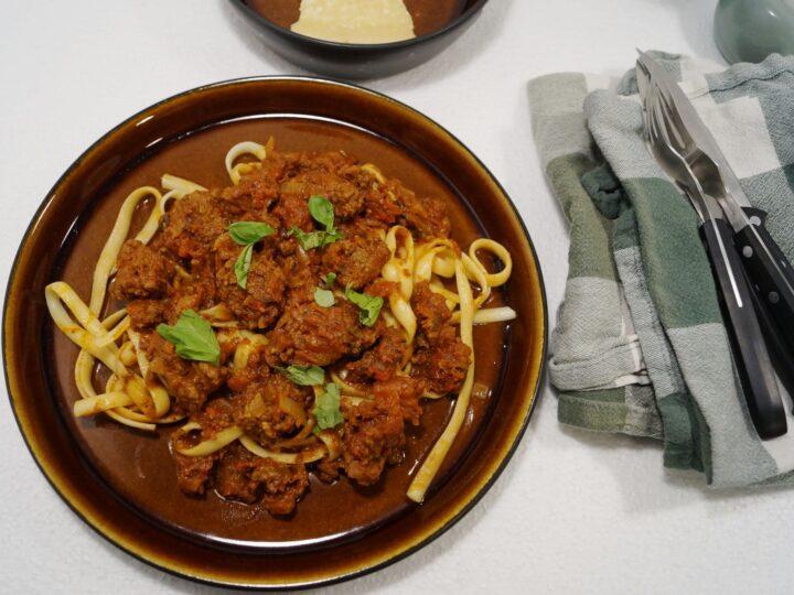 Kødboller med spaghetti