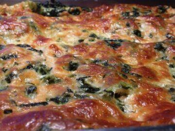 Lakselasagne og spinat