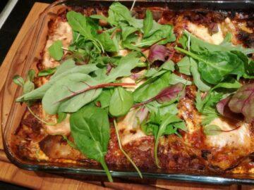 Lasagne fedtfattig og sund version