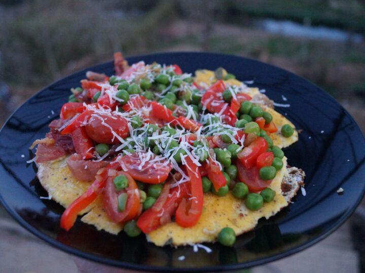 Omelet med revet parmesan