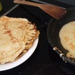 Pandekager (laktosefrie) med laktosefri hjemmelavet vaniljeis