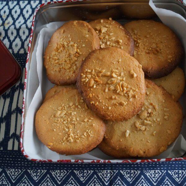 Peanutbutter Cookies i kagedåse