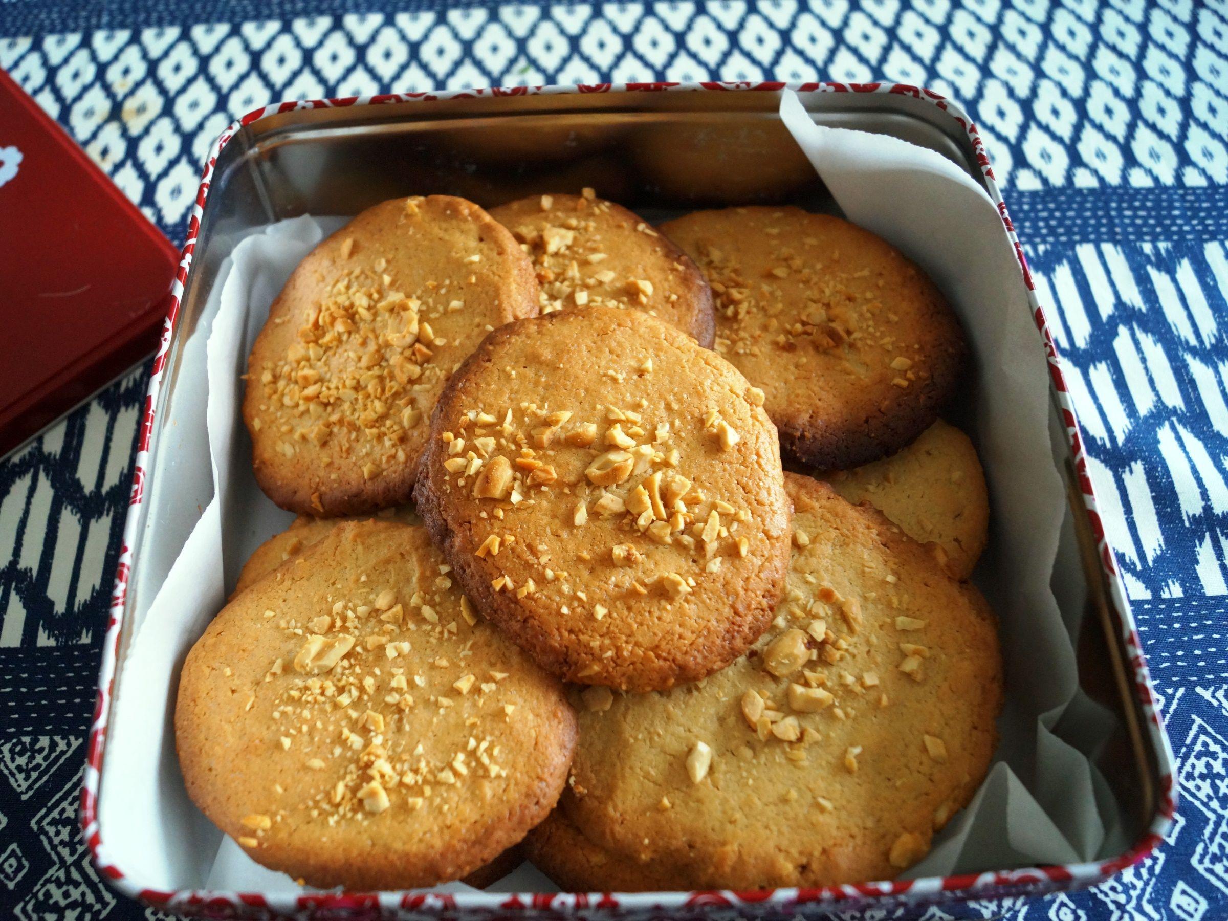 Peanutbutter cookies uden chokolade
