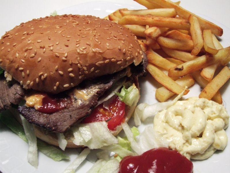 Roastbeef burger