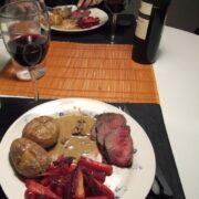 Rødbederelish og rødt kød