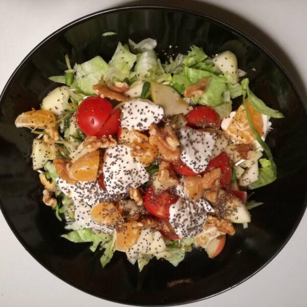 Salat med ingefærdressing