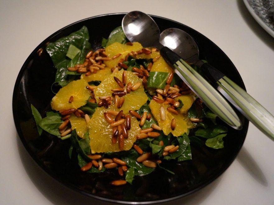Salat med kylling og mango
