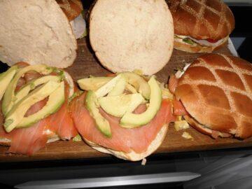 Sandwich fedtfattig med laks