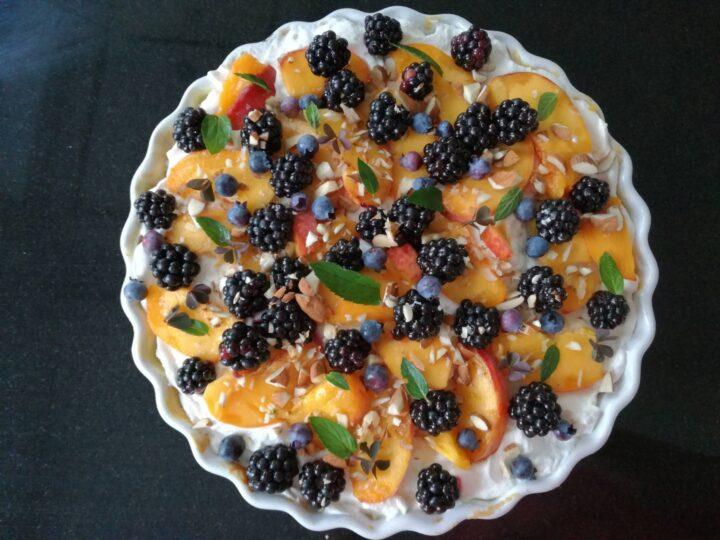 Dessert tærte i rund tærteform