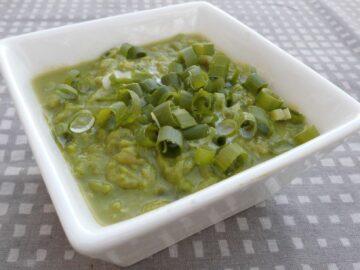 Squashsuppe med ærter