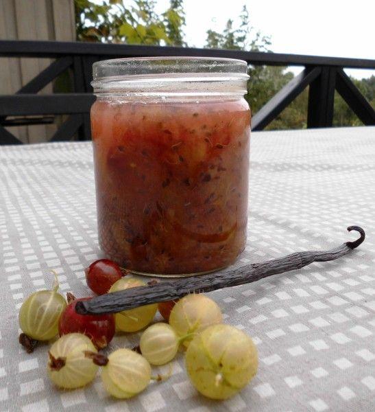 Stikkelsbærmarmelade med vanilje