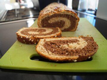 Tofarvet franskbrød med kakao