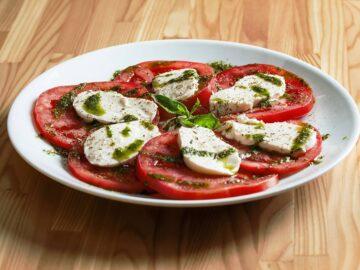 Tomat med mozzarella
