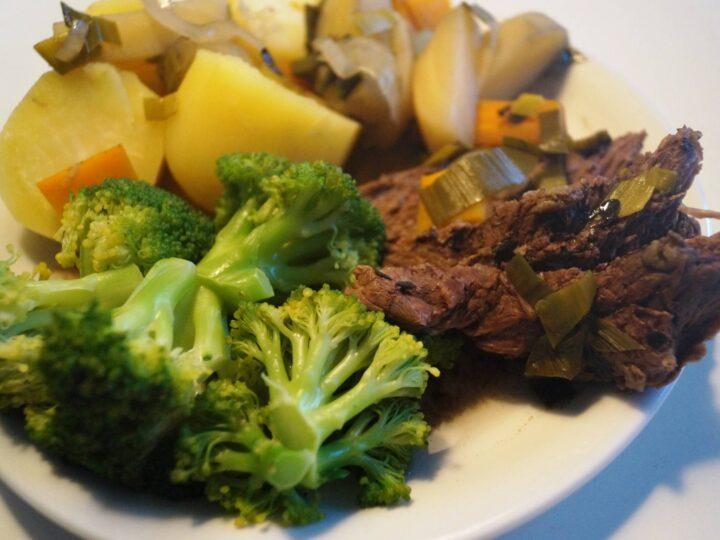 culottesteg og grøntsager