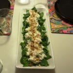 Salat med Spinat og hytteost